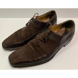 Mezlan Suede Leather Dress Shoes Brown 11 M